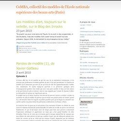 modèle vivant « CoMBA, collectif des modèles de l'Ecole nationale supérieure des beaux-arts (Paris)