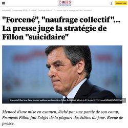 """""""Forcené"""", """"naufrage collectif""""... La presse juge la stratégie de Fillon """"suicidaire"""""""
