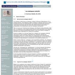 Cours sur les outils collectifs des bibliothèques françaises et étrangères