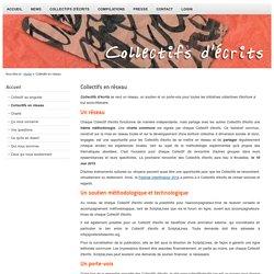 Collectifs d'écrits - Collectifs en réseau