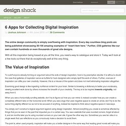 6 Apps for Collecting Digital Inspiration