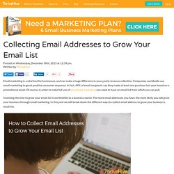 Collecting Email Addresses to Grow Your Email List