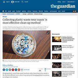 Collecting plastic waste near coasts 'is most effective clean-up method'