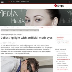 Collecting light with artificial moth eyes - EMPA