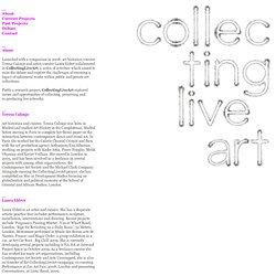 Collecting Live Art - About