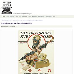 Vintage Poster Auction, Swann Galleries&NYC - Vintage And Flea - Vintage and Flea