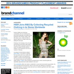 H&M Joins M&S By Collecting Recycled Clothing in its Stores Worldwide