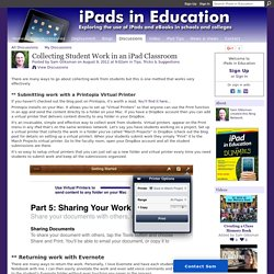 Collecting Student Work in an iPad Classroom