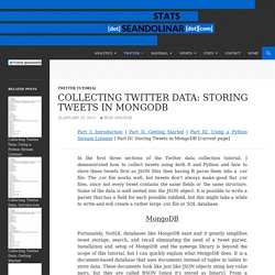 Collecting Twitter Data: Storing Tweets in MongoDB