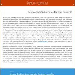 Debt collection agencies for your business