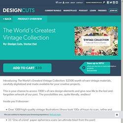 Discover a Vast, Unique Vintage Collection of Authentic Vintage Resources