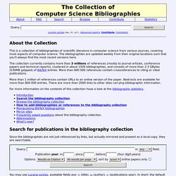The Collection of Computer Science Bibliographies