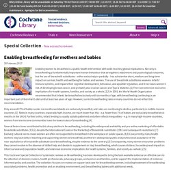Special Collection - Enabling breastfeeding for mothers and babies
