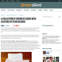 A Collection of Business Cards with Exciting Pattern Designs