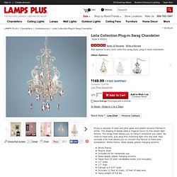 Leila Collection Plug-in Swag Chandelier