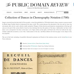 Collection of Dances in Choreography Notation (1700)