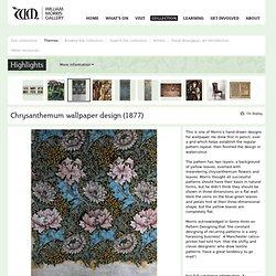 Chrysanthemum wallpaper design