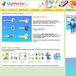 "Collection of FREE vector cliparts ""Six Different Keys"""