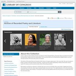 Archive of Recorded Poetry and Literature