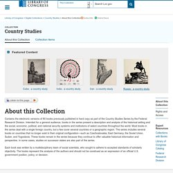 About this Collection - Country Studies