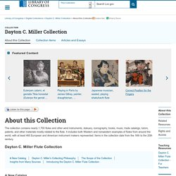 About this Collection - Dayton C. Miller Collection