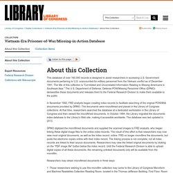 Vietnam-Era Prisoner-of-War/Missing-in-Action Database