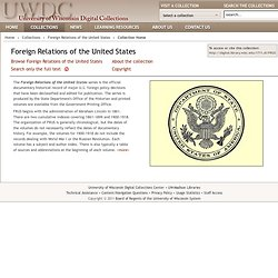 Foreign Relations of the United States 1861-1960 University of Wisconsin
