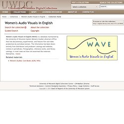 WAVE: Women's Audiovisuals in English