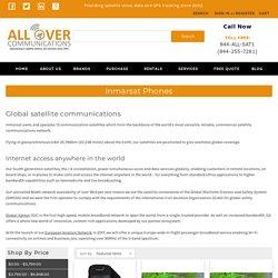 Choose the best Inmarsat satellite phones service provider