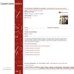 La collection complète (5 volumes) de Collectif / Avant-Scène théâtre