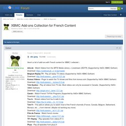 XBMC Add-ons Collection for French Content - XBMC for Beginners - VidOn.me Forum