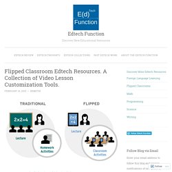 Flipped Classroom Edtech Resources. A Collection of Video Lesson Customization Tools.