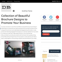Collection of Beautiful Brochure Designs to Promote Your Business
