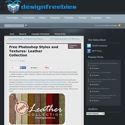 Free Photoshop Styles and Textures: Leather Collection
