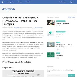 Collection of Free and Premium HTML5/CSS3 Templates - 50 Examples