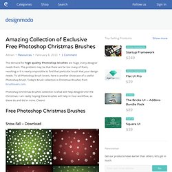 Amazing Collection of Exclusive Free Photoshop Christmas Brushes