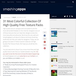 31 Most Colorful Collection Of High Quality Free Texture Packs @ SmashingApps