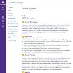 Syllabus for LIS 522 A: Collection Development