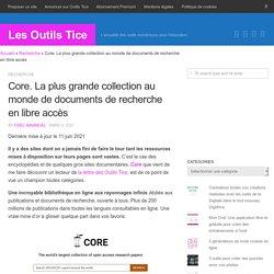 Core. La plus grande collection au monde de documents de recherche en libre accès
