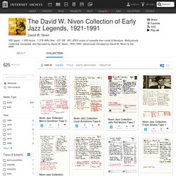 The David W. Niven Collection of Early Jazz Legends, 1921-1991 : Free Audio : Download & Streaming
