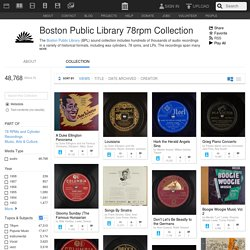 Boston Public Library 78rpm Collection : Free Audio : Free Download, Borrow and Streaming