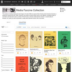 [US] Media Fanzine Collection - Free Texts : Free Download, Borrow and Streaming / Archive.org