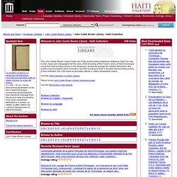 Haiti Collection : John Carter Brown Library - (Free Texts)