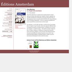 Le Sujet des normes - Hors collection - Editions Amsterdam