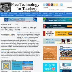 A Large Collection of Free eTextbooks for High School & College Students