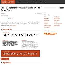 Font Collection: 10 Excellent Free Comic Book Fonts