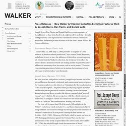 New Walker Art Center Collection Exhibition Features Work by Joseph Beuys, Dan Flavin, and Donald Judd — Press Releases — Press