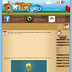 Util.php - Une collection de fonctions et snippets PHP à utiliser