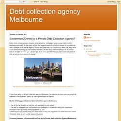 Privately Owned Companies Available For Your Debt Recovery Melbourne