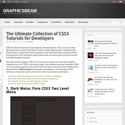 The Ultimate Collection of CSS3 Tutorials for Developers | GraphicsBeam